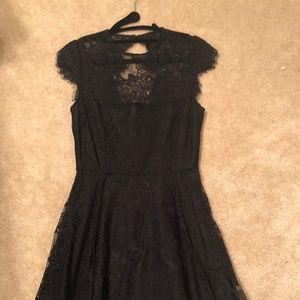 BB Dakota Black Lace Cocktail Dress - Size 0